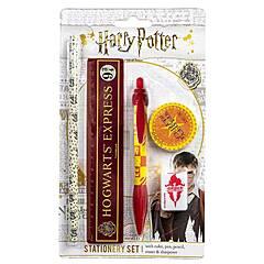 Harry Potter ‑ Skrivesett med linjal, penn, blyant mm - Hogwarts Express og Weasley