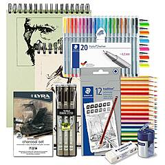 Tegning Startpakke Nivå 4: Best utvalg og mye utstyr for tegning!