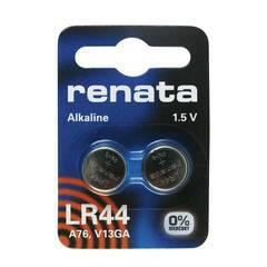 Renata LR44 A76 Alkaline knappebatterier ‑ Pakke med 2 st.