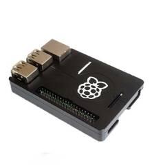 Raspberry Pi ‑ Tynn sort aluminiums case