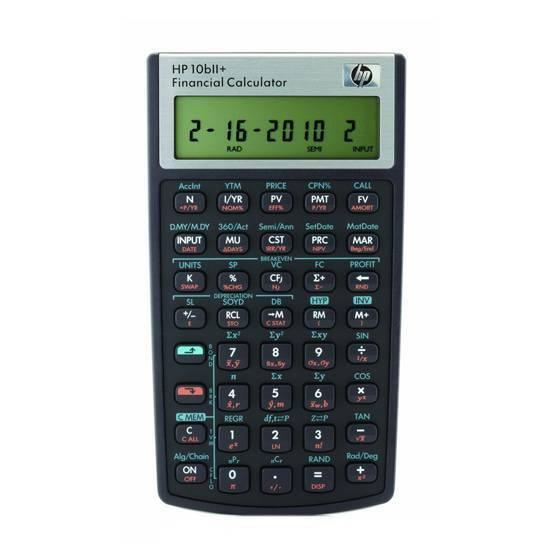 HP 10bII+ Finanskalkulator inkl. tilbehørspakke fra Skolehuset.no