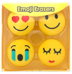 Emoji Viskelær - forelsket og smilefjes