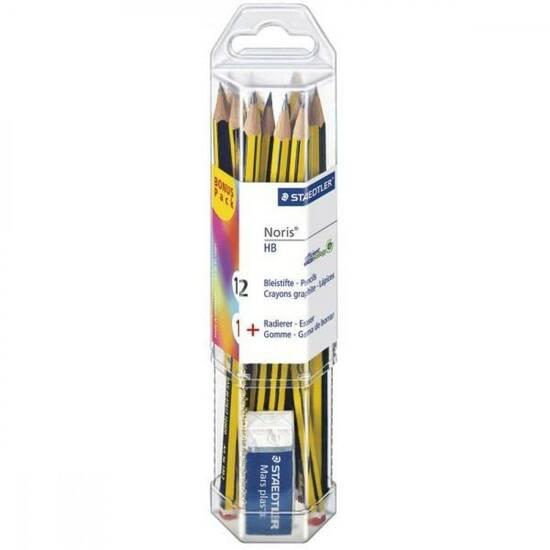 Staedtler Noris HB blyant og viskelær i etui fra Skolehuset.no