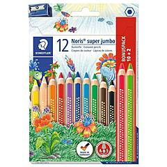 Staedtler Noris Super Jumbo 12 fargeblyanter med blyantspisser