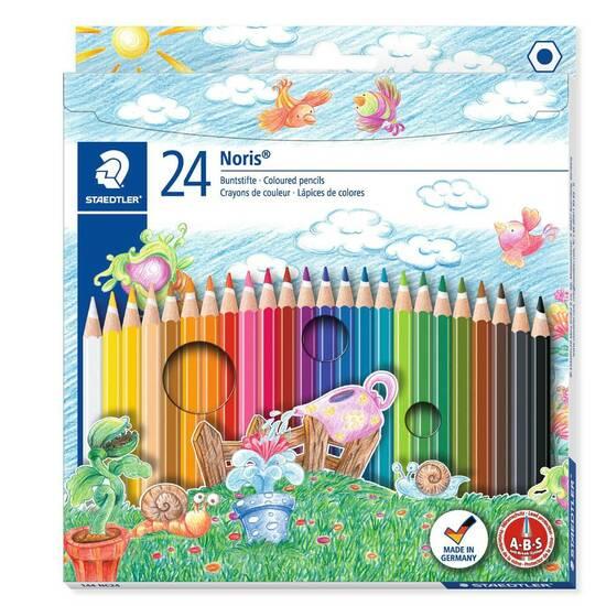 Staedtler 24 Fargeblyanter ‑ Klassisk form fra Skolehuset.no