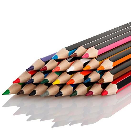 Staedtler  Noris Colour 12 Fargeblyanter - Sekskantet fra Skolehuset.no