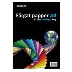 Büngers farget papir A4 80g 50 ark