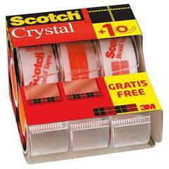 Scotch 3M Crystal Tape V‑Pack 3‑pakning