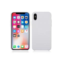Deksel i silikon til iPhoneX lys grå