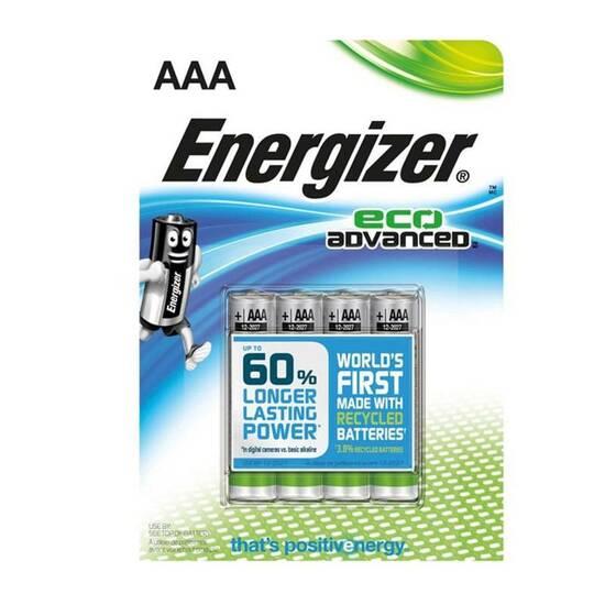 Energizer Eco Advanced AAA/LR3 ‑ Pakke med 4 fra Skolehuset.no