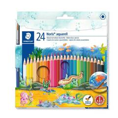 Staedtler 24 Akvarell Fargeblyanter med pensel - Sekskantet