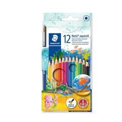 Staedtler 12 Akvarell Fargeblyanter med pensel - Sekskantet