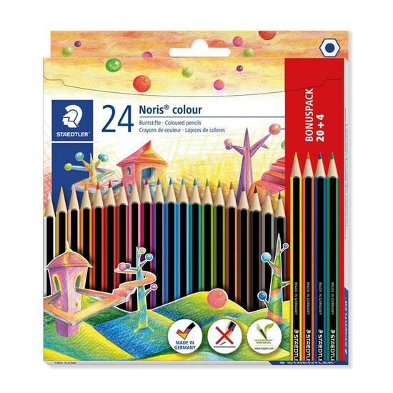 Staedtler Noris Colour 24 fargeblyanter - Sekskantet fra Skolehuset.no