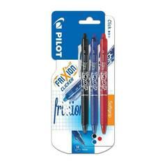 Pilot Frixion Clicker Viskbare penner 3 stk.