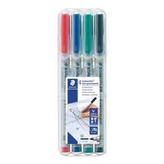Staedtler Merkepenn Lumocolor Ikke‑perm. 1.0mm - 4 farger
