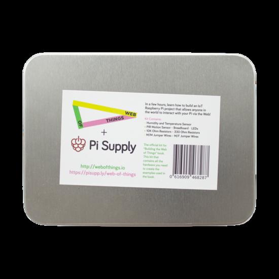 """Raspberry Pi """"Web of Things"""" Hardware Kit med kabler og sensorer fra Skolehuset.no"""