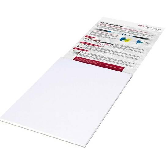 Tombow - Bristol papir 250g A4 for tegning og typografi. Klart hvitt syrefritt ‑ 25 ark  fra Skolehuset.no