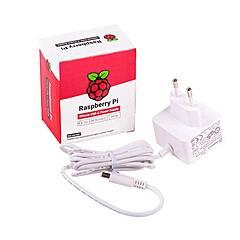 Raspberry Pi 4 Strømforsyning ‑ USB‑C Hvit