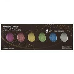 ZIG Akvarellmaling Gansai Tambi 6 farger - Perle
