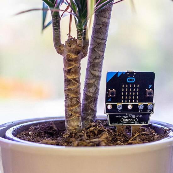 Kitronik fuktighetsmåler jord ‑ til Microbit fra Skolehuset.no