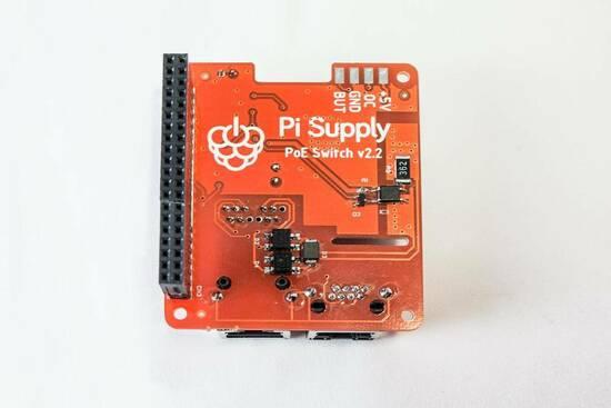 Raspberry Pi PoE Switch ‑ Power over Ethernet HAT fra Skolehuset.no