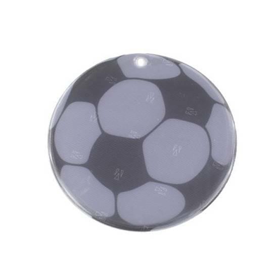 Tinka refleks til skolesekken ‑ Fotball med ekstra sterkt lys   fra Skolehuset.no