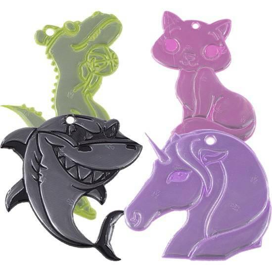 Samlepakke med lyssterke reflekser ‑ Ville dyr fra Skolehuset.no