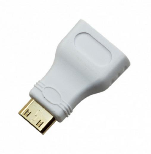 HDMI to mini HDMI adapter hvit fra Skolehuset.no