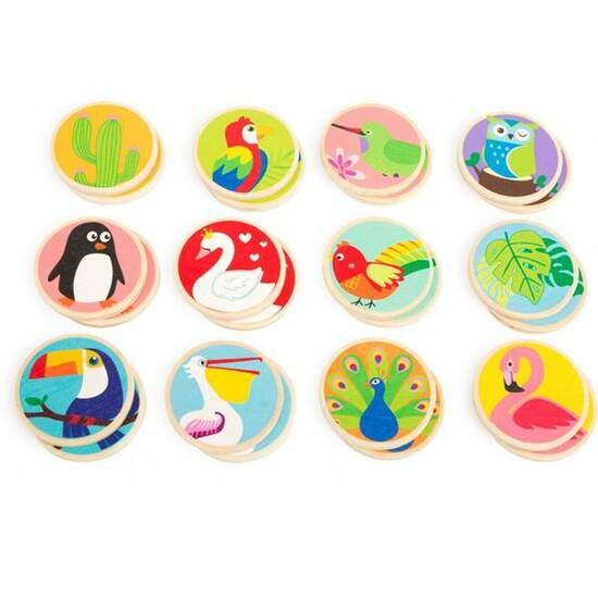 Small Foot Minnespill ‑ Trebrikker med fugler fra hele verden fra Skolehuset.no