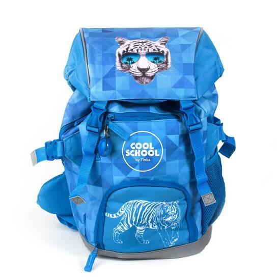 Tinka skolesekk - Blåmed tiger fra Skolehuset.no