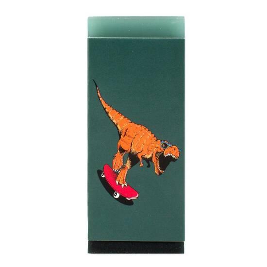 Tinka Grønt og sort viskelær ‑ Med dinosaur fra Skolehuset.no