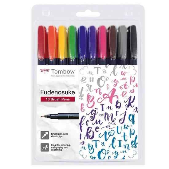 Startpakke Typografi/Kalligrafi ‑ Nivå 2: Pakke med kalilgrafipenner, tusjer, papir og tilbehør fra Skolehuset.no
