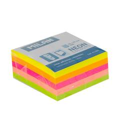 Milan Sticky Notes Mini 50 x 50mm ‑ Neonfarger