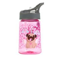 Tinka drikkeflaske ‑ Rosa med søt hund 350ml