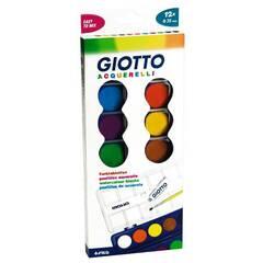 Giotto akvarell -  Skrin med 12 vannfarger og pensel