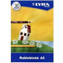 Lyra Rableblokk A5 ‑ 40 ark 100g
