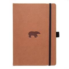 Dingbats* Wildlife A4+ Brown Bear Notatbok ‑ Linjert
