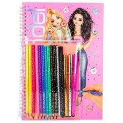 TOPModel Aktivitetsbok for mote ‑ Med fargeblyanter og penner