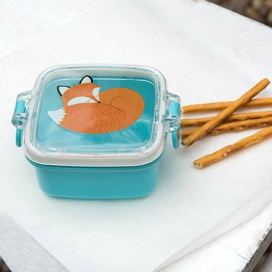 Rex London Mini Snacksboks ‑ Teal med Reven Rusty   fra Skolehuset.no