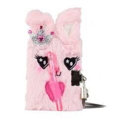 Tinka Mini Dagbok med hengelås ‑ Lys rosa prinsessekanin