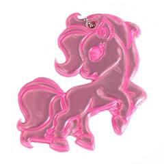 Tinka refleks til skolesekken ‑ Rosa ponny med ekstra sterkt lys