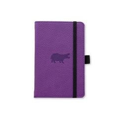 Dingbats* Wildlife A6+ Purple Hippo Notatbok ‑ Linjert