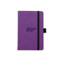 Dingbats* Wildlife A6+ Purple Hippo Notatbok ‑ Dotted