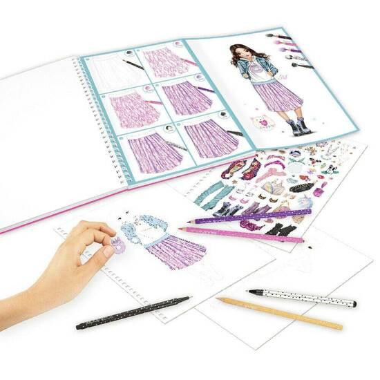 TOPModel Aktivitetsbok for mote ‑ Med fargeblyanter og penner   fra Skolehuset.no