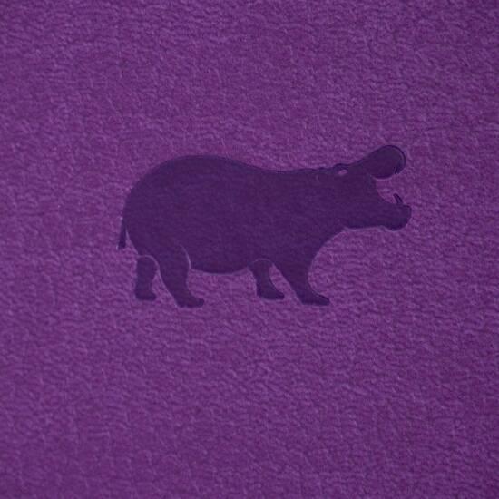 Dingbats* Wildlife A6+ Purple Hippo Notatbok ‑ Dotted fra Skolehuset.no